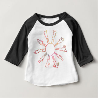 Children Around the World Playing on a Globe Baby T-Shirt
