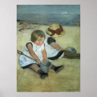 Children at the Seashore 1885 Poster