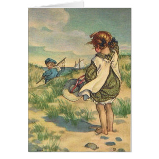 Children at the Seashore, Card