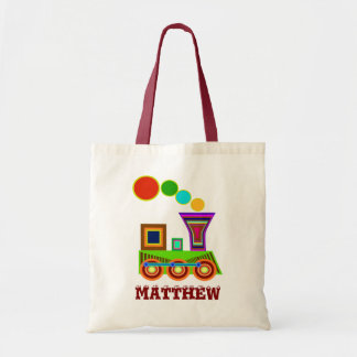 Children Bags: a Train Tote Bag