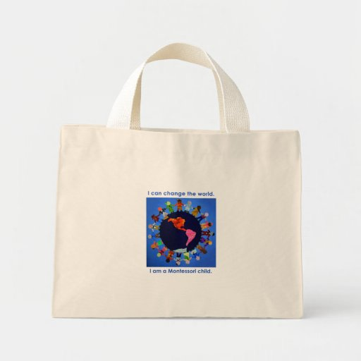 Children Can Change the World Striped Bag