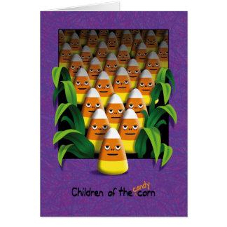 Children Candy Corn Halloween Card