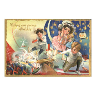 Children Cannon Fireworks Toy Soldiers Photographic Print
