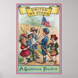 Children Celebrate the Fourth Poster