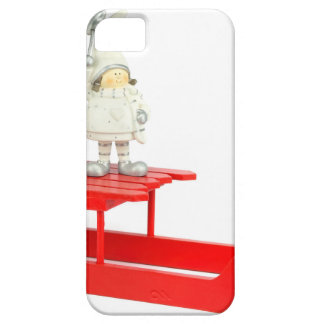 Children christmas figurines on red sleigh iPhone 5 covers