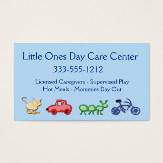 Children Day Care Business Card custom