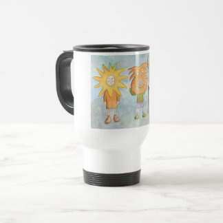 Children dressed travel mug