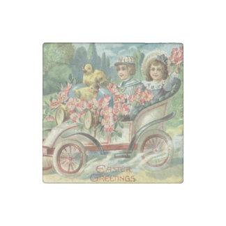 Children Easter Chick Vintage Car Floral Stone Magnets