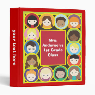 Children Faces Teacher's Classroom Binder