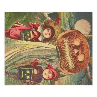 Children Ghost Jack O' Lantern Pumpkin Photo Art
