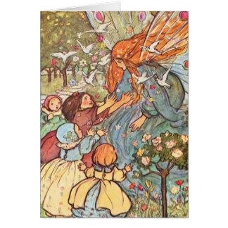 Children Greet Fairy, Card