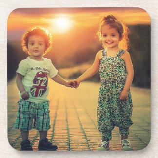 Children holding hands sunset love coaster