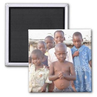 Children in Africa Square Magnet
