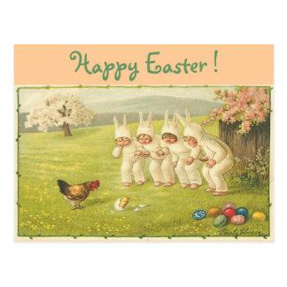 Children in Bunny Suits Postcard