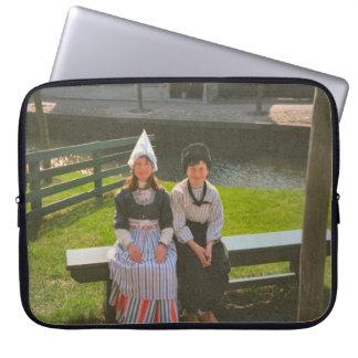 Children in Dutch National Costume Computer Sleeve