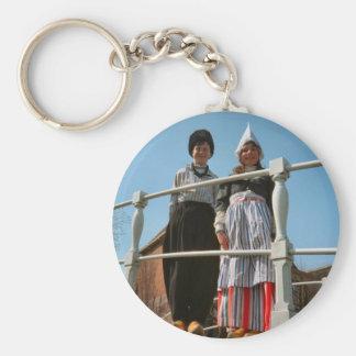 Children in Dutch National Costume Keychain