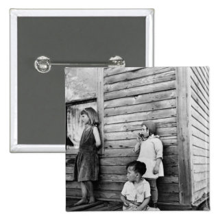 Children in Poverty 1930s Pinback Button