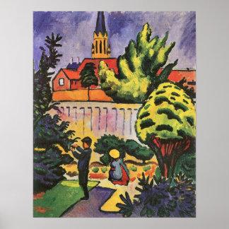 Children in the Garden by August Macke Print
