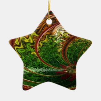Children in the Rings Fractal Ceramic Ornament