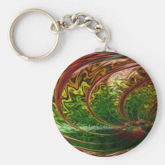 Children in the Rings Fractal Keychain