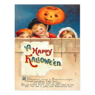 Children Jack O Lantern Ellen Clapsaddle Post Card