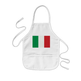 Children kitchen apron with Italy flag