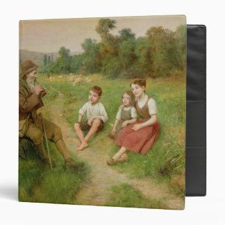 Children Listen to a Shepherd Playing a Flute Binders