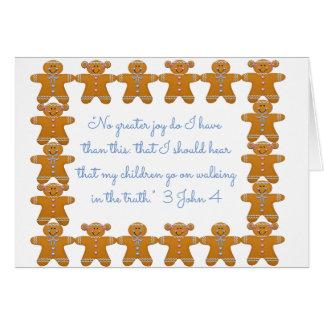 Children Obedient to Parents Scripture~Gingerbread Card