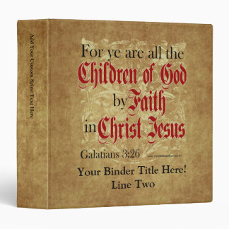 Children of God by Faith Vinyl Binder