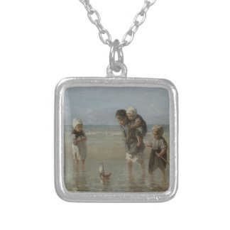 Children of the sea silver plated necklace