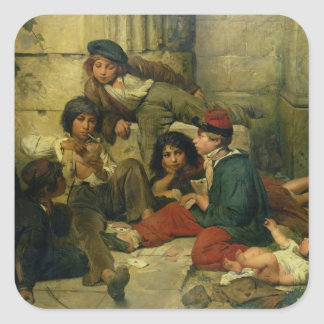 Children of the Streets of Paris, 1852 Square Sticker