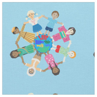 Children of the world fabric