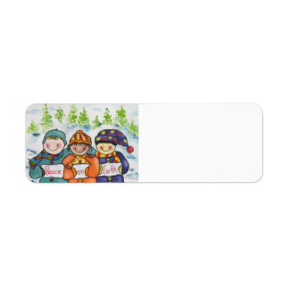 Children of the World Peace Return Address Label