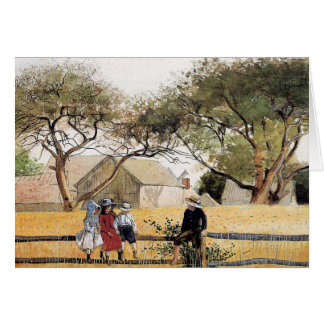 Children on a Fence by Winslow Homer Card