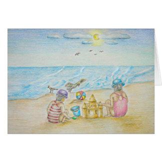 Children on the Beach Card