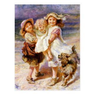 Children on the Beach Postcard