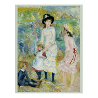 Children on the Seashore Guernsey by Renoir Postcard
