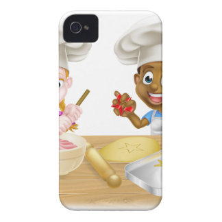 Children Playing at Cooking iPhone 4 Case-Mate Cases
