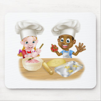 Children Playing at Cooking Mouse Pad