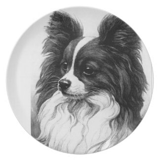 CHILDREN PLAYING BLACK AND WHITE DESIGN DINNER PLATE