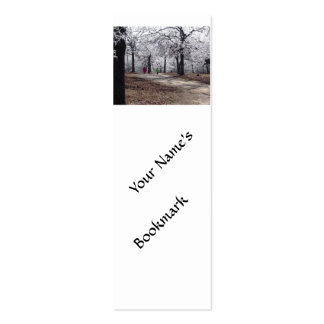 Children Playing in Winter Double-Sided Mini Business Cards (Pack Of 20)