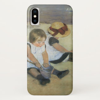 Children Playing on the Beach by Mary Cassatt iPhone X Case