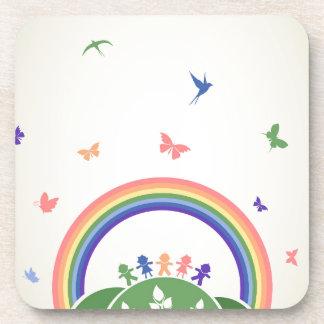 Children rainbow coaster