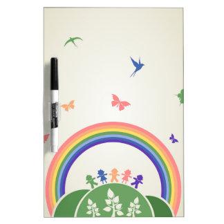 Children rainbow dry erase whiteboards