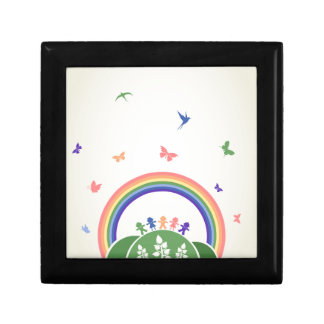 Children rainbow gift box