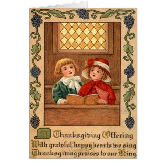 Children Singing Card