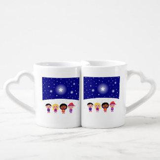 Children Singing Christmas Carols Coffee Mug Set
