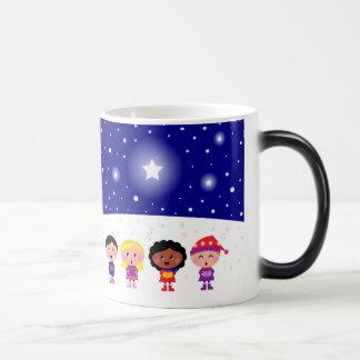 Children Singing Christmas Carols Morphing Mug