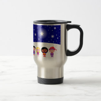 Children Singing Christmas Carols Steel Travel Mug