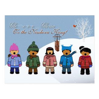 Children Singing 'Gloria To the Newborn King,' Postcard